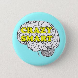 crazy smart 6 cm round badge