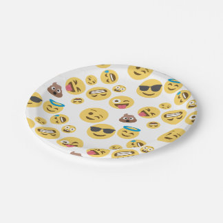 Crazy Smiley Emojis 7 Inch Paper Plate