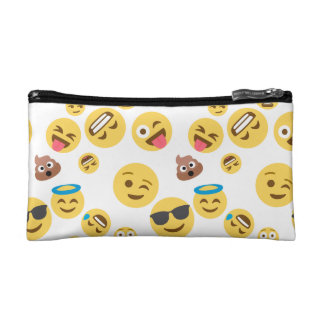 Crazy Smiley Emojis Cosmetic Bag