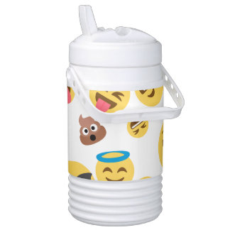 Crazy Smiley Emojis Drinks Cooler