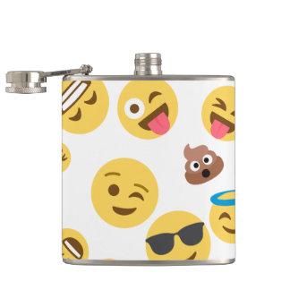 Crazy Smiley Emojis Hip Flask