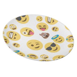 Crazy Smiley Emojis Plates