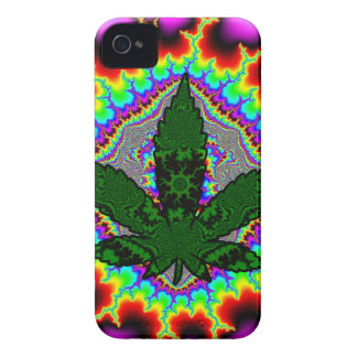 Crazy Smoke Weed Fun Rasta Case-Mate iPhone 4 Case