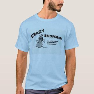 Crazy Snowman T-shirt