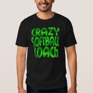Crazy Softball Coach in Green Shirt