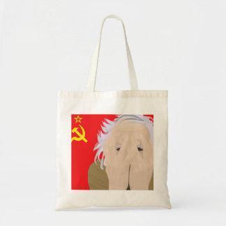 Crazy soviet scientist budget tote bag
