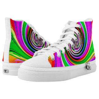 Crazy Spiral Womens Shoes Printed Shoes
