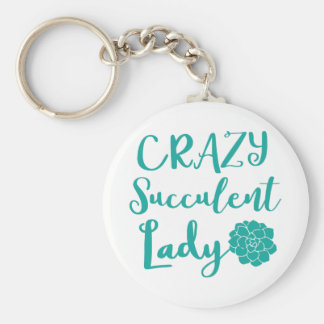 crazy succulent lady key ring
