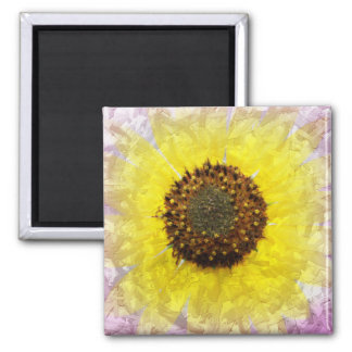 Crazy Sunflower Magnet