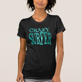 Crazy Surfer in Teal Tshirt