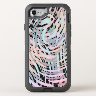 crazy swirling pastels OtterBox defender iPhone 7 case