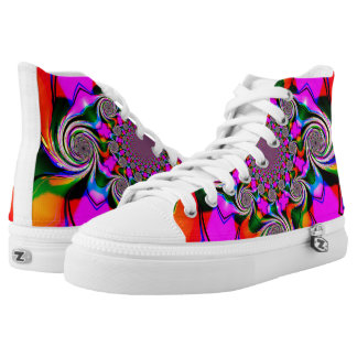 Crazy Swirls Womens Shoes Printed Shoes