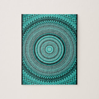 Crazy Teal Kaleidoscope Puzzle with Gift Box