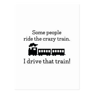 Crazy Train Postcard