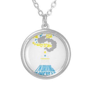 crazy train silver plated necklace