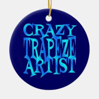 Crazy Trapeze Artist Round Ceramic Decoration