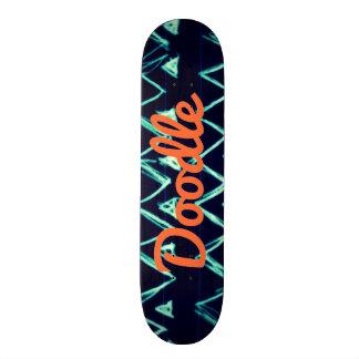 Crazy Tribal Doodle ZigZag Triangle Pattern 20 Cm Skateboard Deck