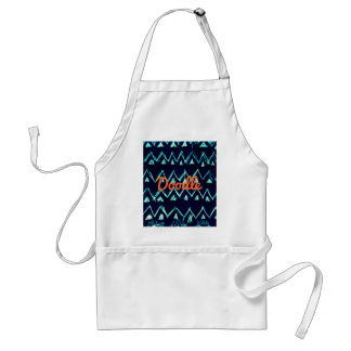 Crazy Tribal Doodle ZigZag Triangle Pattern Adult Apron