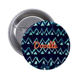 Crazy Tribal Doodle ZigZag Triangle Pattern Buttons