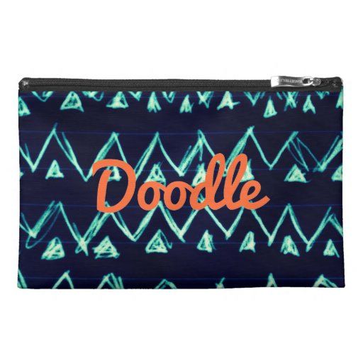 Crazy Tribal Doodle ZigZag Triangle Pattern Travel Accessories Bags
