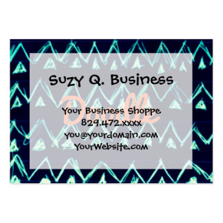 Crazy Tribal Doodle ZigZag Triangle Pattern Business Cards