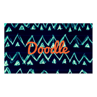 Crazy Tribal Doodle ZigZag Triangle Pattern Business Card