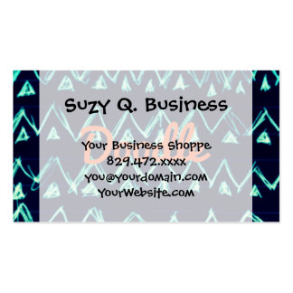 Crazy Tribal Doodle ZigZag Triangle Pattern Business Card Templates