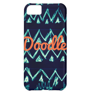 Crazy Tribal Doodle ZigZag Triangle Pattern Case For iPhone 5C