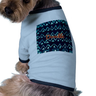 Crazy Tribal Doodle ZigZag Triangle Pattern Doggie Tee Shirt