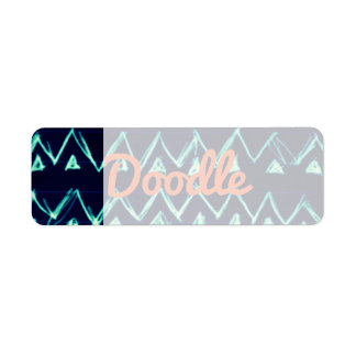 Crazy Tribal Doodle ZigZag Triangle Pattern Return Address Label