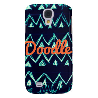 Crazy Tribal Doodle ZigZag Triangle Pattern Samsung Galaxy S4 Cover