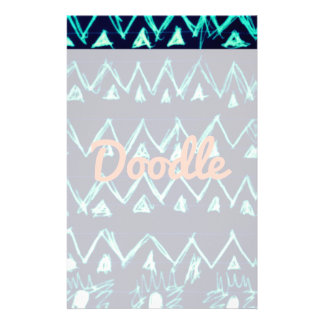 Crazy Tribal Doodle ZigZag Triangle Pattern Personalized Stationery
