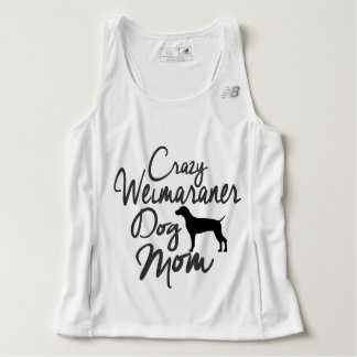 Crazy Weimaraner Dog Mom Singlet