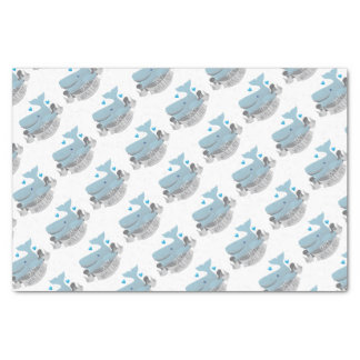 crazy whale lady tissue paper