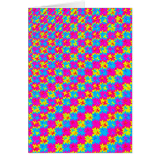 Crazy Yellow and Pink Pattern Card