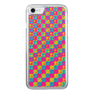 Crazy Yellow and Pink Pattern Carved iPhone 8/7 Case