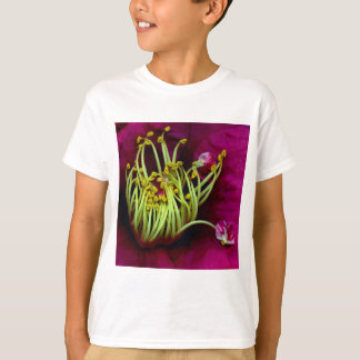 Crazy Yellow Stamens Surrounded by Pink Petals T-Shirt