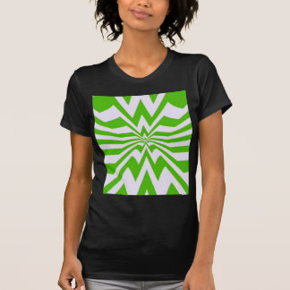 crazy zigzag green wave tee shirt
