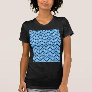 crazy zigzag ice blue t shirts