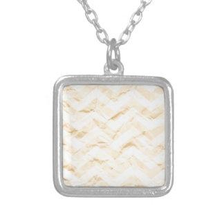 crazy zigzag, paper yellow custom necklace