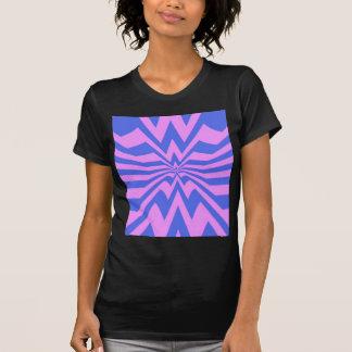 crazy zigzag pink wave tshirts
