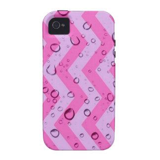 crazy zigzag wet pink Case-Mate iPhone 4 case