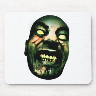 Crazy Zombie Man Face Mouse Pad