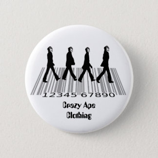crazyapecommercialroad, 6 cm round badge