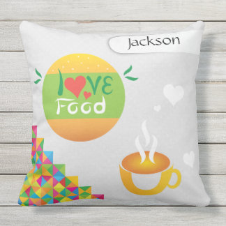 Crazydeal love food super cool and creative design throw pillow