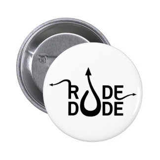 Crazydeal p548 Rude dude standard round button