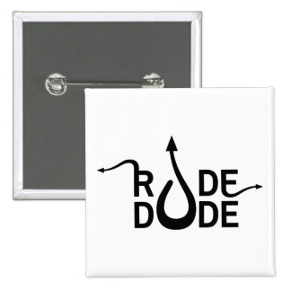 Crazydeal p583 Rude dude standard square button