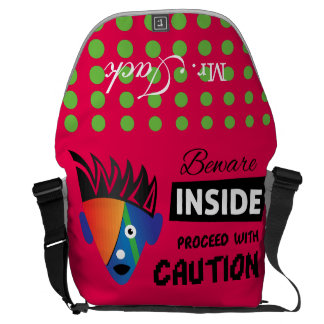 Crazydeal p621 Wild inside super crazy and funny Commuter Bag