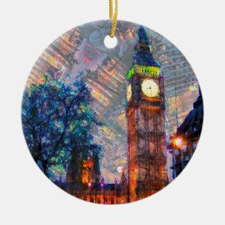 Crcle Ornament-Big Ben Ceramic Ornament