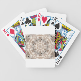 cream and beige cafe au lait abstract art bicycle playing cards